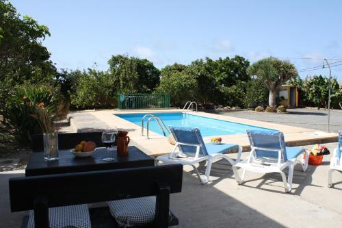 The swimming pool at or near Casa El Salitre