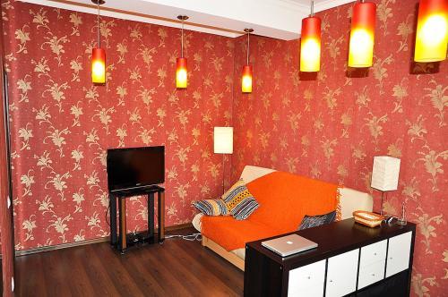 TV a/nebo společenská místnost v ubytování Studio on Krasnaya Presnya