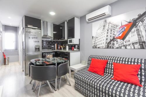 格蘭大道租賃公寓-丘埃卡廚房或簡易廚房