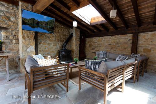 Zona de estar de El Valle Perdido Casas Rurales
