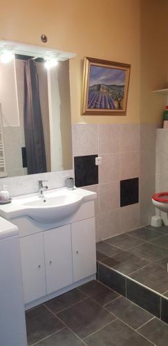 Salle de bains dans l'établissement Charmant appartement en campagne