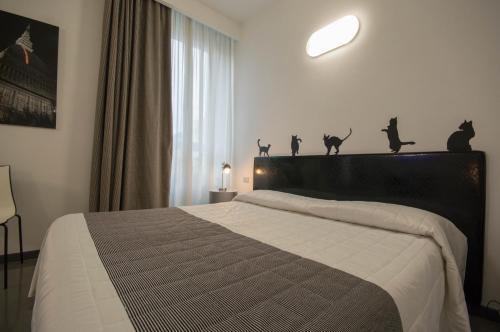 Uma cama ou camas num quarto em Residence Star