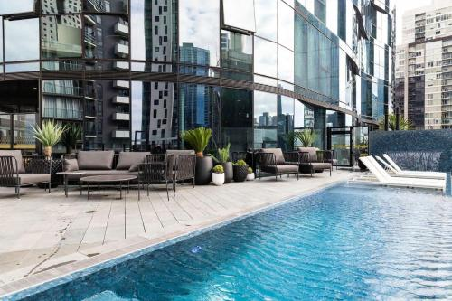 The swimming pool at or near Morden apartment near crown in CBD