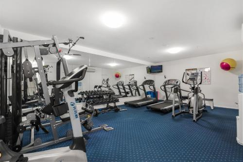 The fitness center and/or fitness facilities at Seamark on First
