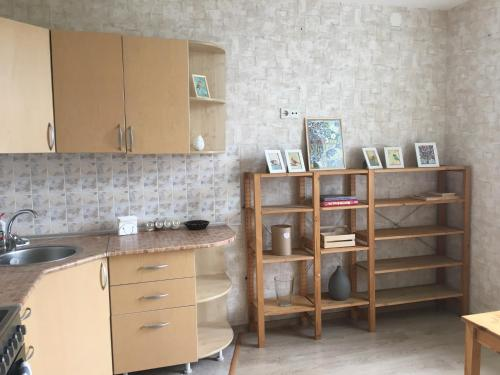 A kitchen or kitchenette at Apartments on Lenina
