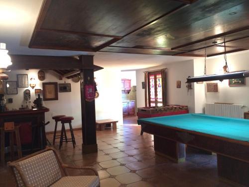 A pool table at Villa Penelope