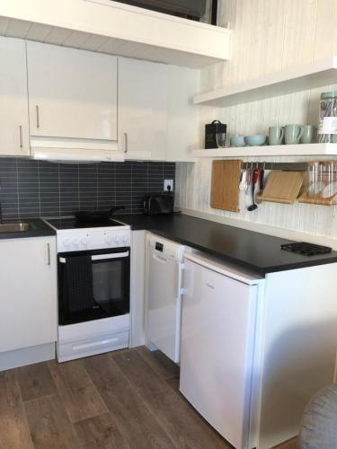 Ett kök eller pentry på Nordicbo