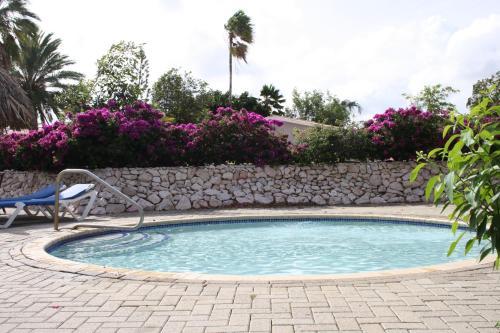 Het zwembad bij of vlak bij Bungalow Club Seru Coral