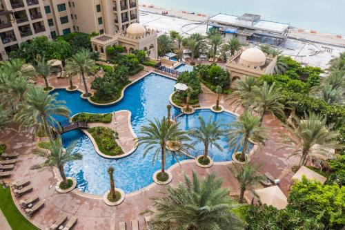A view of the pool at Luxury apartments on Palm Jumeirah or nearby