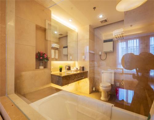 Ванная комната в Beijing Yongli International Service Apartment