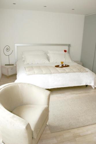 Cama o camas de una habitación en Hotel Piedraluna