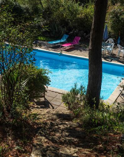 Der Swimmingpool an oder in der Nähe von Chambres d'Hôtes Horizons Verts