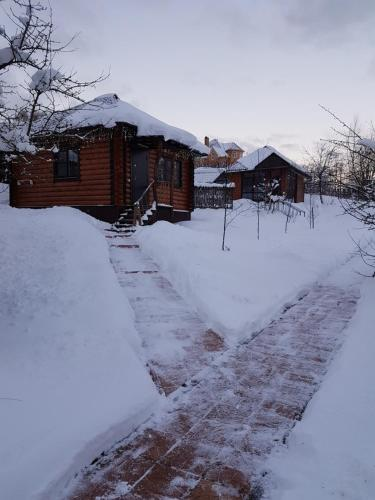 Holiday Home Podlipki during the winter
