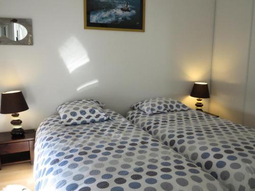 Un ou plusieurs lits dans un hébergement de l'établissement Appartement 3 pièces 4 personnes grande terrasse 74954