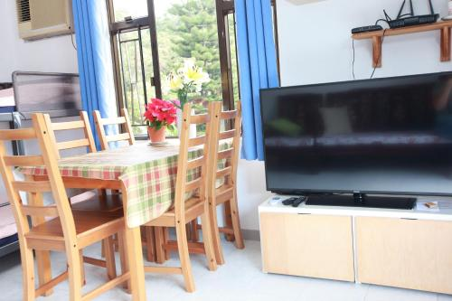 A television and/or entertainment center at Lantau Lodge