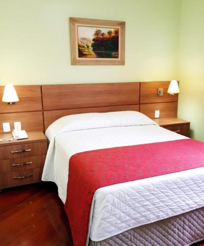 A bed or beds in a room at Hotel Pousada Clássica