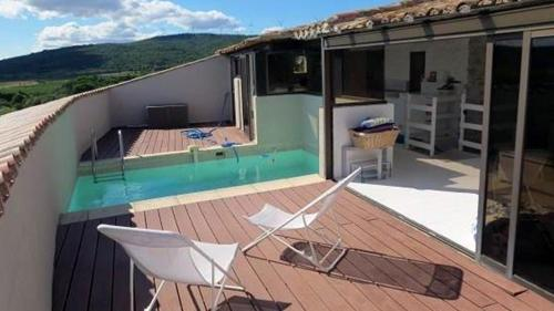 The swimming pool at or close to Le Fort Pouzols-Minervois