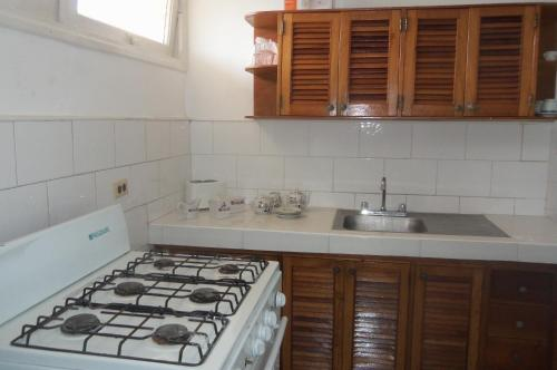 A kitchen or kitchenette at Cozy Apartment Vedado