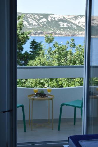A balcony or terrace at Apartments Patrik