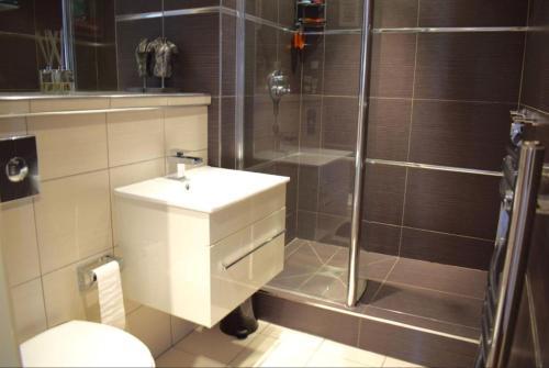A bathroom at Bridger Apartment