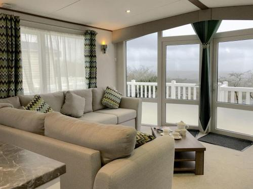 A seating area at Valley View, Tamar View Holiday Park