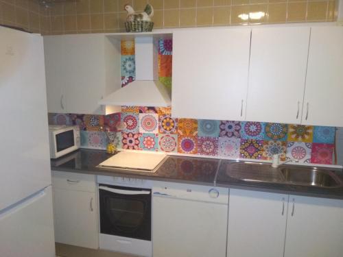 A kitchen or kitchenette at Casa de las Lanzas