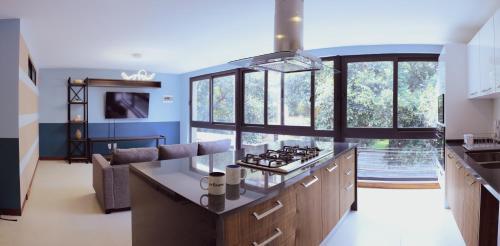 Köök või kööginurk majutusasutuses Colivers Polanco