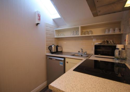 A kitchen or kitchenette at Trinity Apartments Temple Bar by theKeyCollections