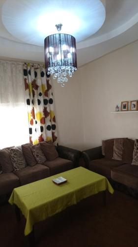 A seating area at Ajloun apartment