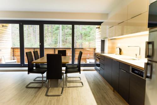 A kitchen or kitchenette at Apartment Mumlava Harrachov