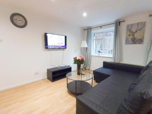 A television and/or entertainment center at Lavender at Netherwood Road