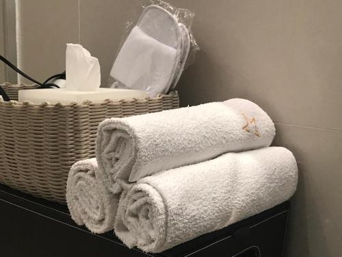 Een badkamer bij Stardust