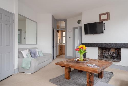 A seating area at The View Apartment, Hampstead