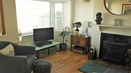 A television and/or entertainment center at Pentire - Polruan