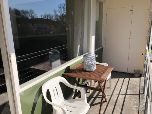 Een balkon of terras bij Appartement Dishoek