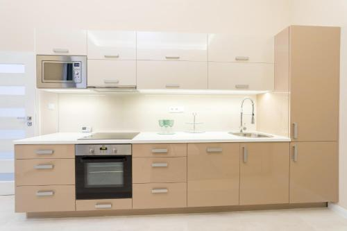 A kitchen or kitchenette at Budapest Broadway Residence