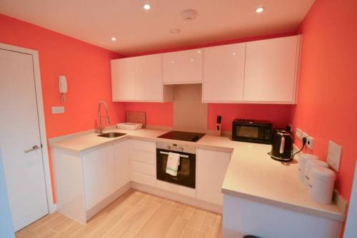 Küche/Küchenzeile in der Unterkunft Modern Studio Flat In Clifton