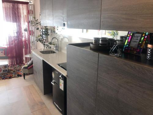 A kitchen or kitchenette at Apartamento 162 Reñaca Mar Vista
