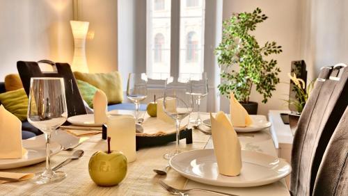 Restavracija oz. druge možnosti za prehrano v nastanitvi Ljubljana Center Apartments