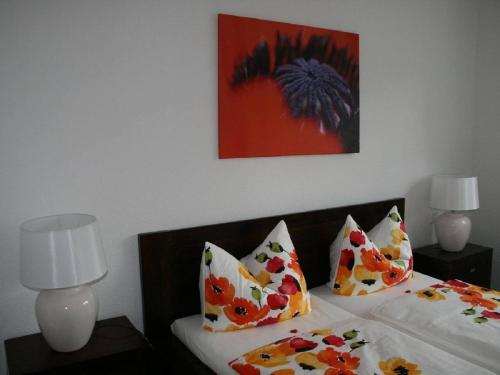 A bed or beds in a room at cosy center apartment Berlin Mitte