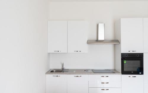 Kuchyň nebo kuchyňský kout v ubytování Atlantide holiday apartments