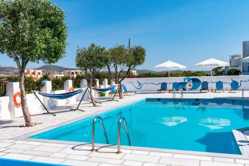 The swimming pool at or near Dedalos Studios Naxos