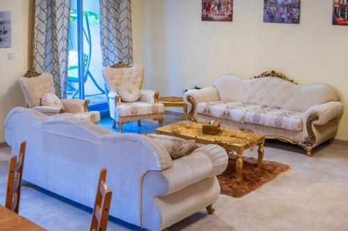 A seating area at City Nights - 3B Villa Burj Khalifa View