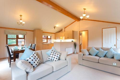 A seating area at Crocus Lodge