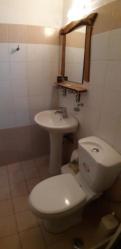 A bathroom at Pansion Limni