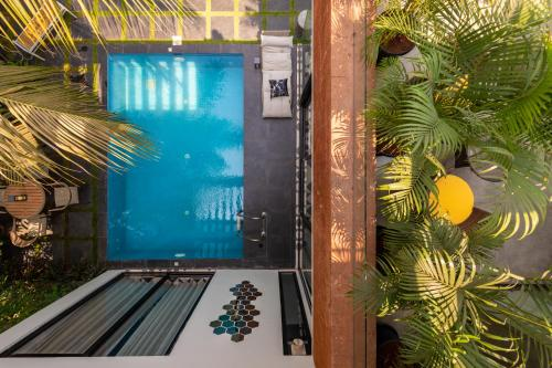 A view of the pool at Saxofone Villa in Anjuna ! or nearby