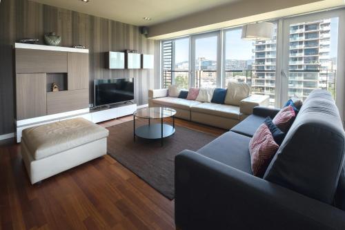 A seating area at Rent Top Apartments Beach-Diagonal Mar