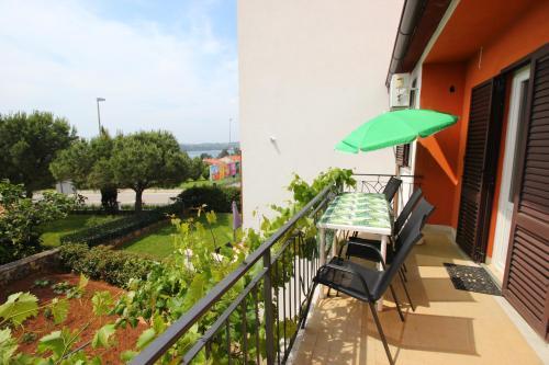 A balcony or terrace at Casa Lidija