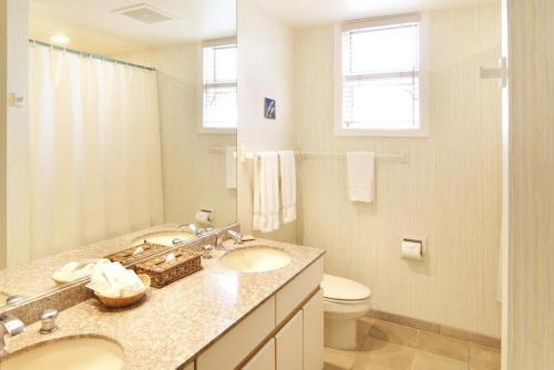 A bathroom at Whalers Cove in Poipu