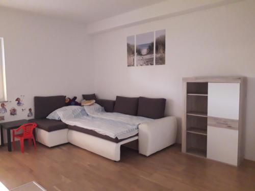 A bed or beds in a room at Apartmaji Gabrijela